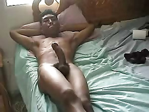 Huge Black Cock Wanking On Webca...