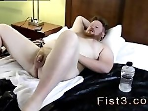 Homemade gay fisting boys Sky Works Brock's Hole with his Fist